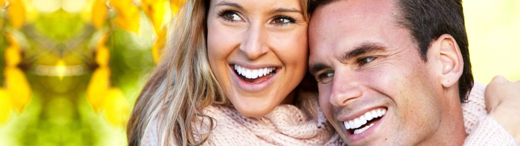 Cosmetic Dentistry in Gilbert | Smiling Couple in Fall